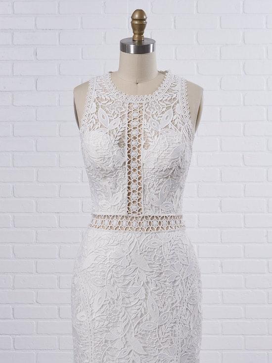 Rebecca Ingram Belinda Unique keyhole back bridal gown with an illusion halter neck 21RK343 Color2