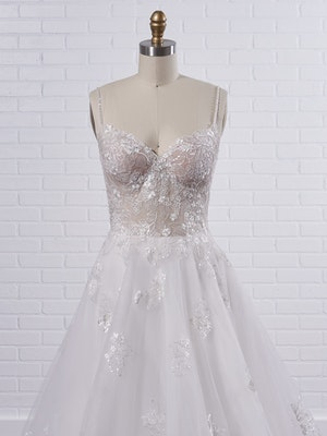 Rebecca Ingram Irene Floral sweetheart A-line wedding dress with fairytale glamour 21RN398 Color1