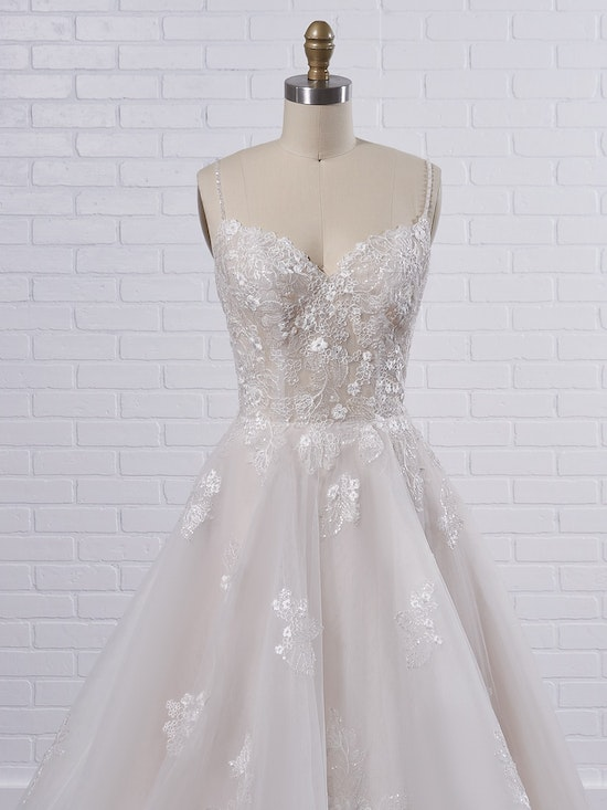 Rebecca Ingram Irene Floral sweetheart A-line wedding dress with fairytale glamour 21RN398 Color2
