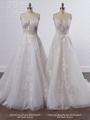 Rebecca Ingram Irene Floral sweetheart A-line wedding dress with fairytale glamour 21RN398 Color3
