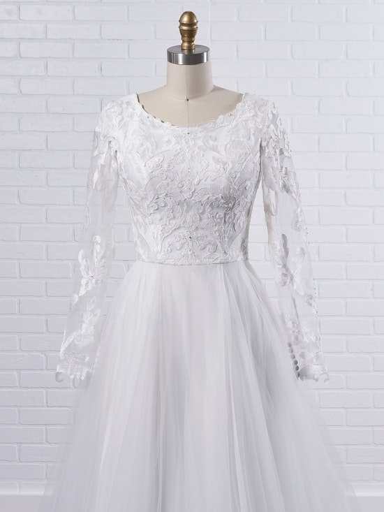 Rebecca Ingram Carrie Leigh Modest long sleeve princess wedding gown in dreamy and airy layers 21RS346 Color1