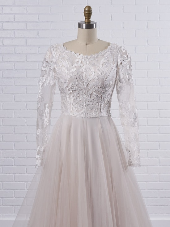 Rebecca Ingram Carrie Leigh Modest long sleeve princess wedding gown in dreamy and airy layers 21RS346 Color2