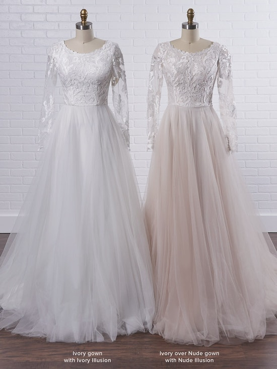 Rebecca Ingram Carrie Leigh Modest long sleeve princess wedding gown in dreamy and airy layers 21RS346 Color3