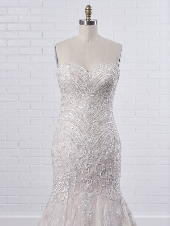 Maggie Sottero Whitney A boho fit-and-flare wedding dress to show off your bust, waistline, and booty 9MC040 Color1