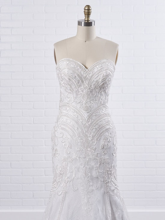 Maggie Sottero Whitney A boho fit-and-flare wedding dress to show off your bust, waistline, and booty 9MC040 Color2