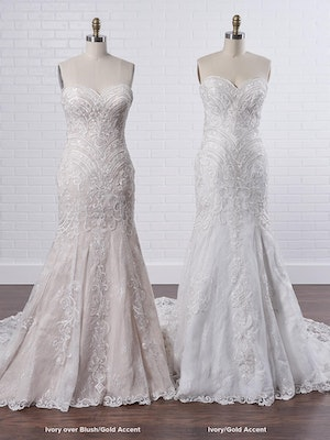 Maggie Sottero Whitney A boho fit-and-flare wedding dress to show off your bust, waistline, and booty 9MC040 Color3
