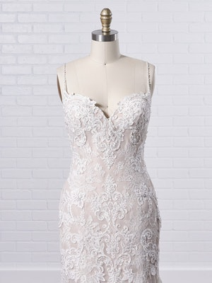 Maggie Sottero Glorietta Elegant fit-and-flare bridal dress featuring eye-catching lace motifs 9MC882 Color2