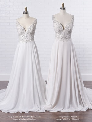 Maggie Sottero Melody Dreamy boho chiffon wedding dress for summer celebrations 9MS837 Color3