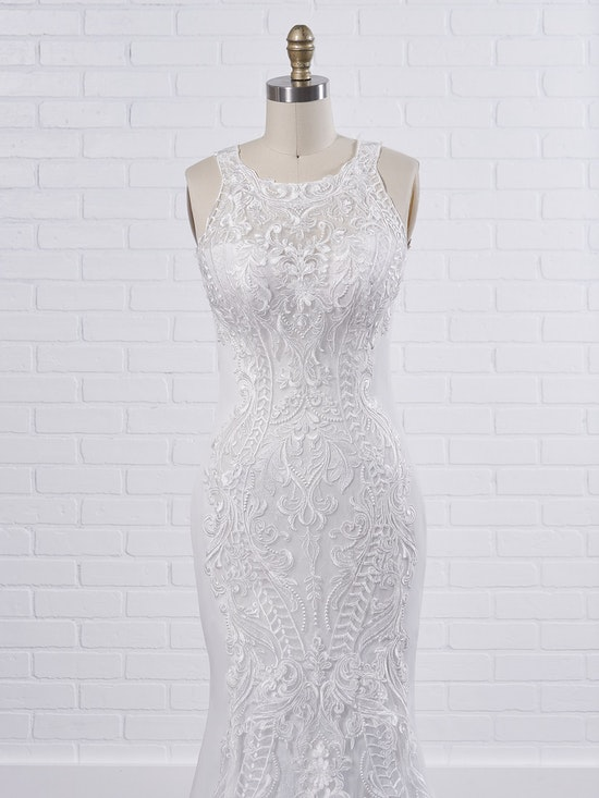 Sottero and Midgley Kevyn An exceptionally modern halter fit-and-flare wedding dress to elongate your frame 9SC803 Color1