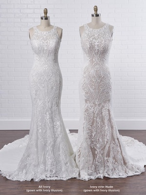 Sottero and Midgley Kevyn An exceptionally modern halter fit-and-flare wedding dress to elongate your frame 9SC803 Color3