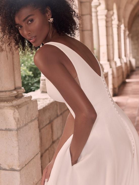 Maggie Sottero Josephine-Lynette Plus Size Chic and modern minimalist crepe A-line wedding dress 21MW374B Alt8