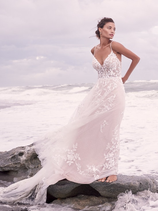 Sottero and Midgley Marlow Romantic keyhole back wedding dress in an A-line silhouette 21SC429 Alt8