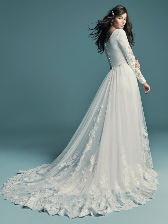 Maggie Sottero Accessories OLYSSIA (Over Skirt) YYOS+8MW678 Back