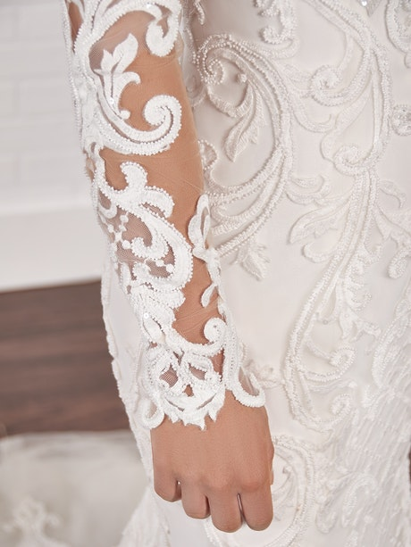 Sottero and Midgley Long Sleeves YYDS0+21SC405000 Alt1