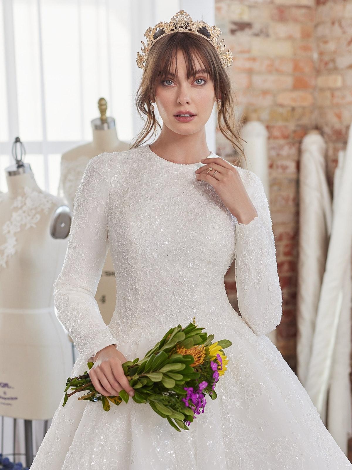 Sottero and Midgley Wedding Dress Zartasha Leigh 21SV864B01 Alt050