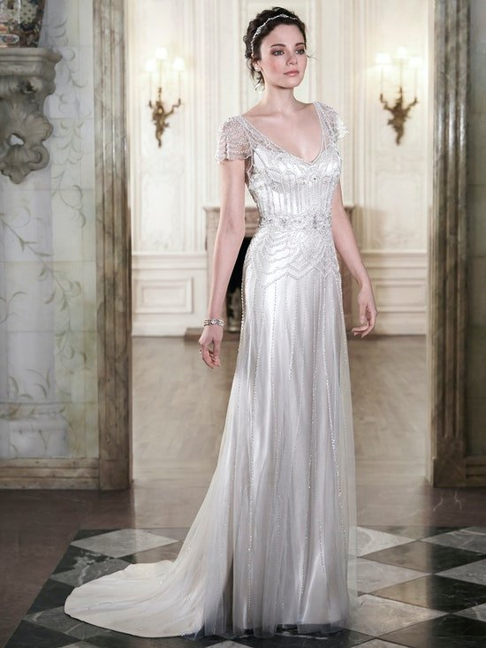 Ettia (5MN084) Vintage Beaded Wedding Dress by Maggie Sottero