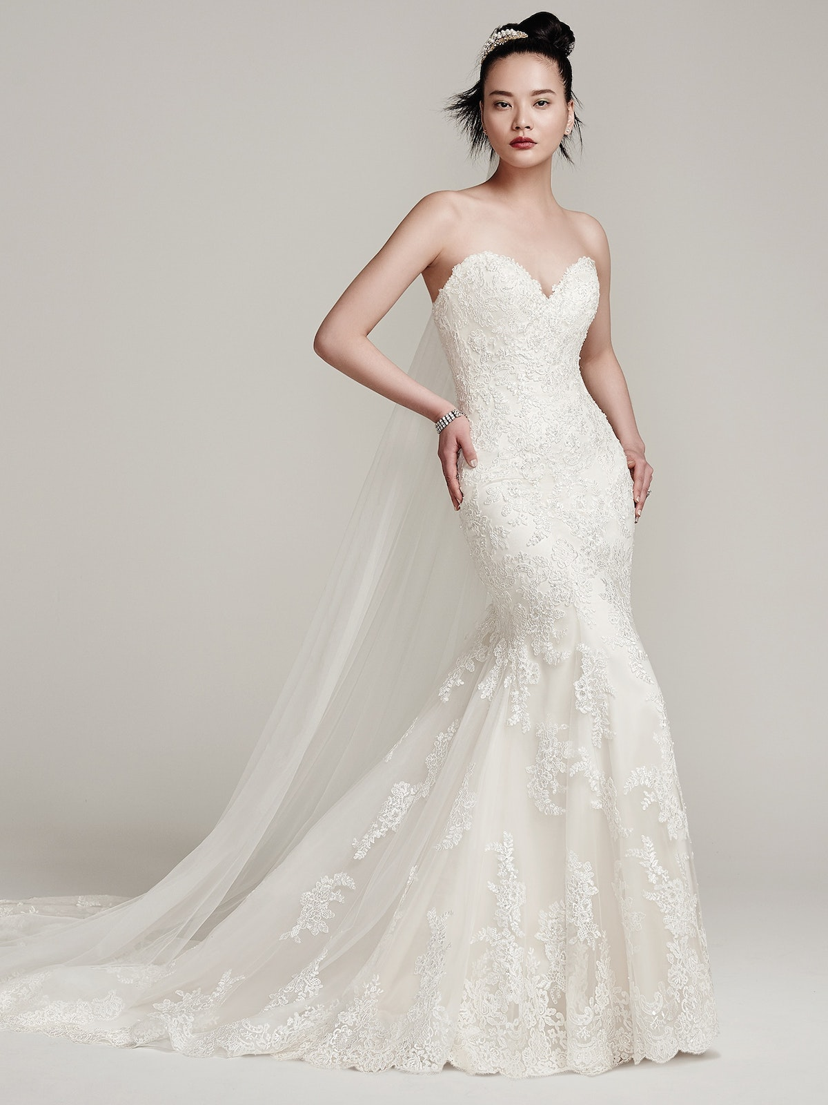 Ireland Fit and Flare Wedding Gown   Sottero and Midgley
