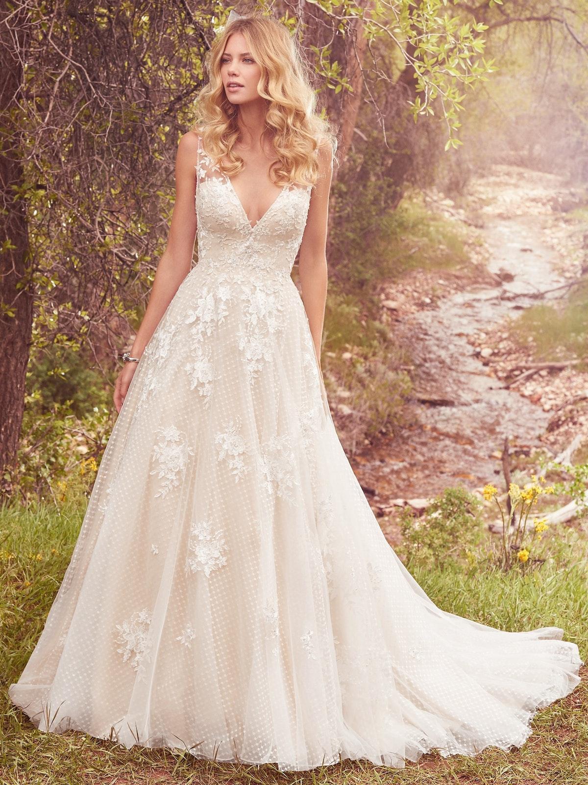 Meryl Sleeveless Ball Gown Wedding Dress Maggie Sottero