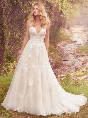 Meryl (7MS339) Vintage Lace Wedding Dress by Maggie Sottero