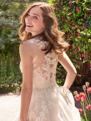 Olivia (Curve) (CRV-7RS290) lace Wedding Dress by Rebecca Ingram