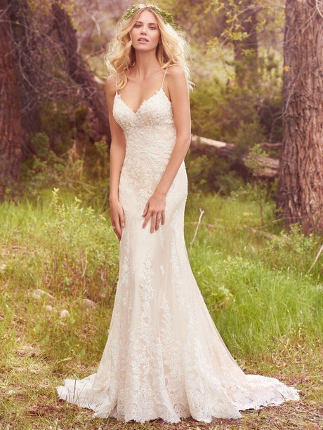 Nola (7MN356) Classic Lace Wedding Dress by Maggie Sottero