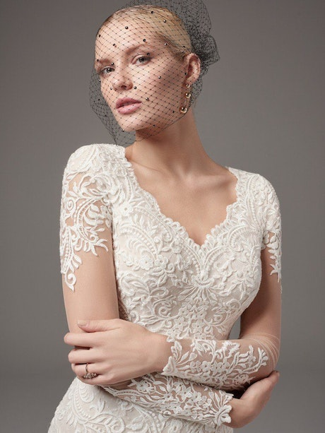 Melrose Lynette (7SC363) Modest Long Sleeve Wedding Dress by Sottero and Midgley