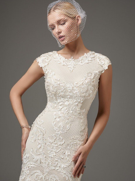 Suzanne Rose (7SS424MC) Modest Lace Wedding Dress by Sottero and Midgley