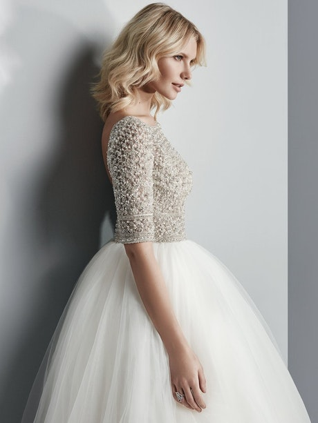 Allen (7SS611) Princess Sleeved Ballgown Wedding Dress by Sottero and Midgley