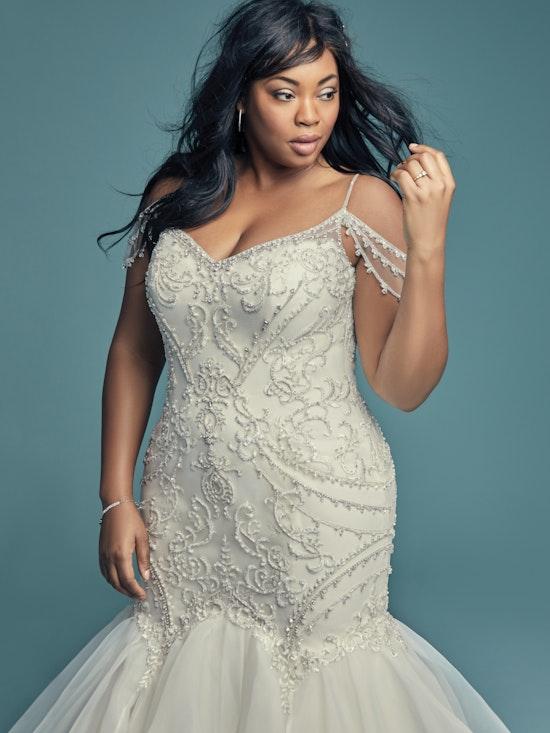 Brinkley Lynette (Curve) (CRV-8MC651AC) Plus Size Mermaid Wedding Dress by Maggie Sottero