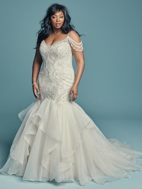 Brinkley Lynette (Curve) (CRV-8MC651AC) Plus Size Mermaid Wedding Dress by Maggie Sottero