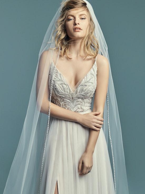 Charlene (8MS694) Tulle Boho Wedding Dress by Maggie Sottero