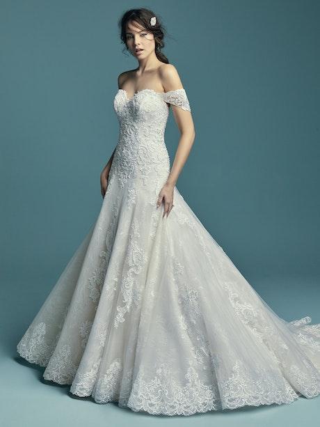 Gail (Curve) (CRV-8MT733ZU) ine Wedding Dress by Maggie Sottero