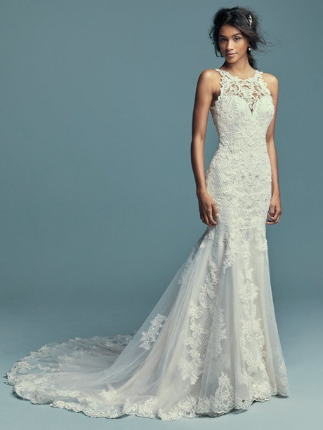 Kendall (8MC749) Lace Boho Wedding Dress by Maggie Sottero