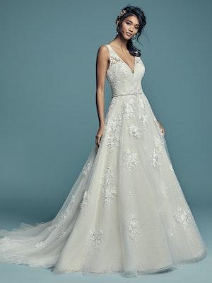 Meryl Lynette (Curve) (CRV-7MS339MC) Lace Wedding Dress by Maggie Sottero