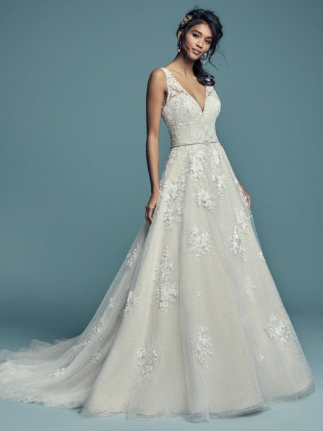 Meryl Lynette (Curve) (CRV-7MS339MC) Lace Wedding Dress by Maggie Sottero