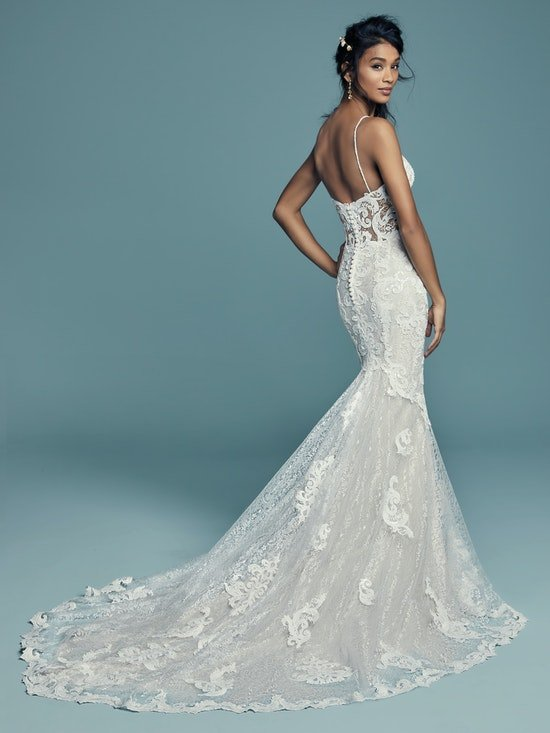 Tuscany Lynette (8MS794MC) Sexy Lace Wedding Dress by Maggie Sottero