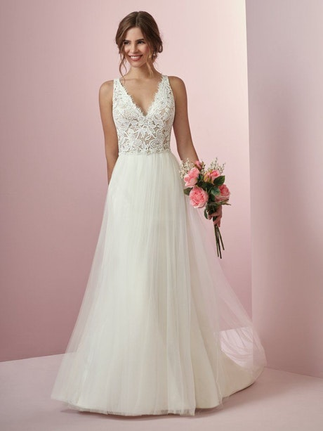 Connie (8RW702) Lace Boho Wedding Dress by Rebecca Ingram