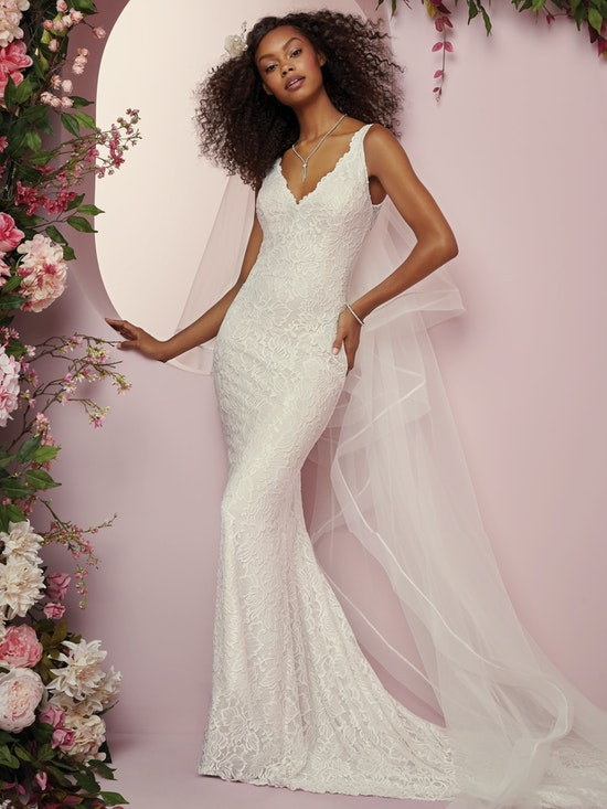 Tina (8RW706) Lace Boho Wedding Dress by Rebecca Ingram