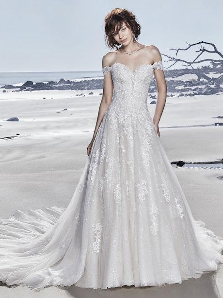 Glenn (8SN791) Lace A Line Wedding Dress by Sottero and Midgley