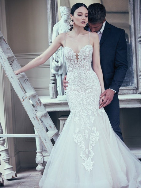 Alistaire (9MS023) Lace Fit and Flare Wedding Dress by Maggie Sottero