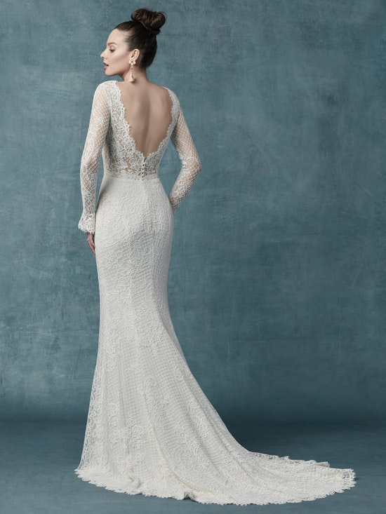 Antonia (9MW021) Long Sleeved Lace Boho Wedding Dress by Maggie Sottero