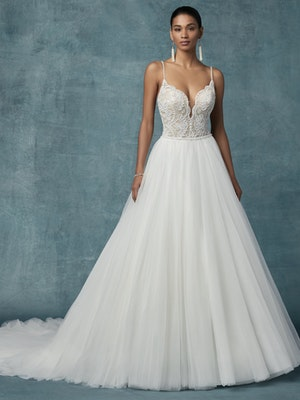 Mallory (9MS113) Vintage Wedding Dress by Maggie Sottero