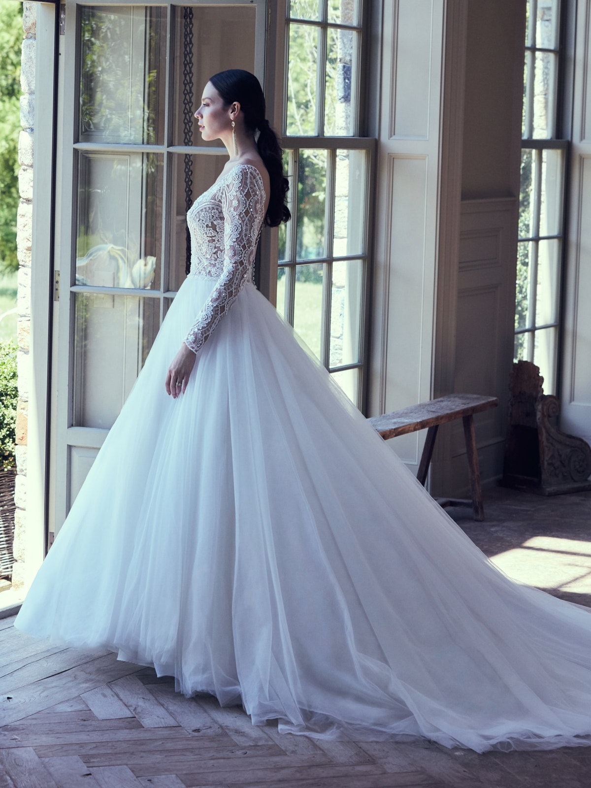 Mallory Dawn Long Sleeve Ball Gown Wedding Dress Maggie Sottero