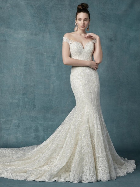 Sabra (9MC117) Lace Boho Wedding Dress by Maggie Sottero