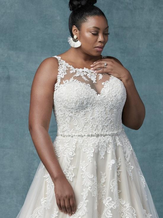 Shelissa Lynette (Curve) (CRV-9MC025AC) Neck Wedding Dress by Maggie Sottero