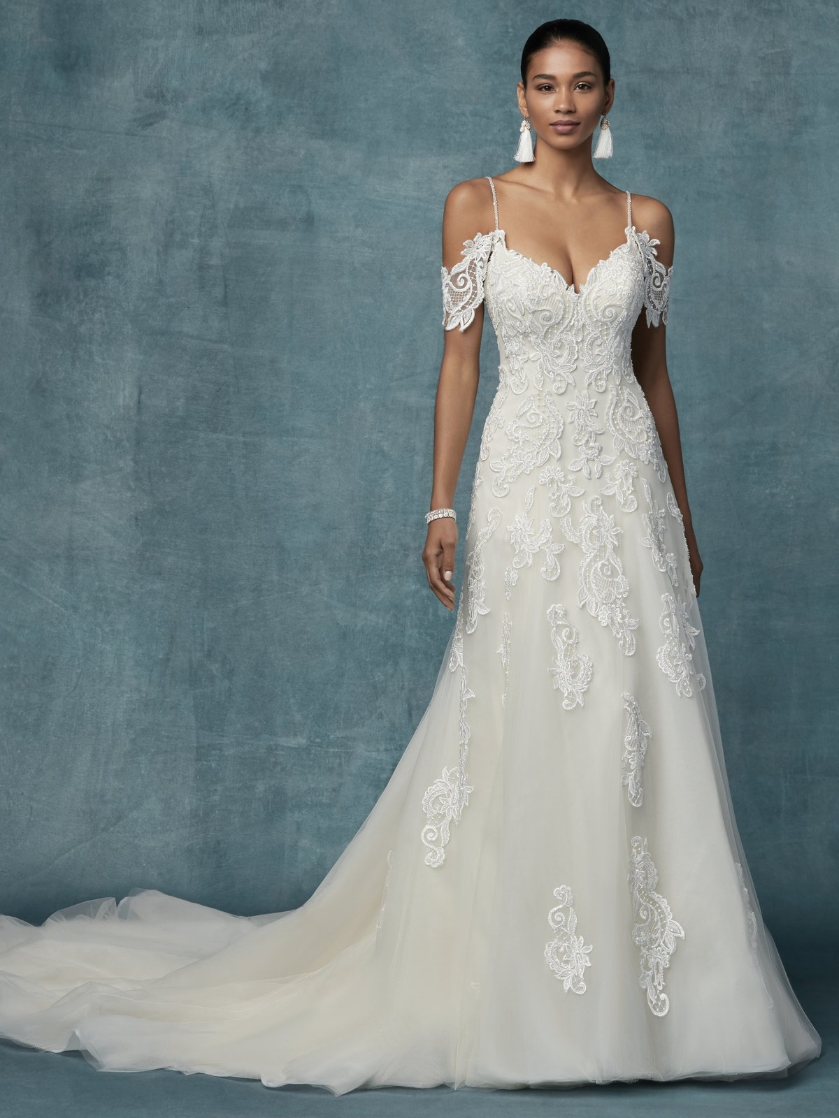Sorrento Lace A Line Wedding Dress   Maggie Sottero