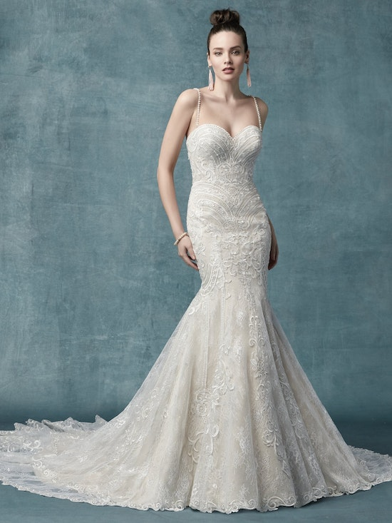 Whitney (9MC040) Vintage Lace Wedding Dress by Maggie Sottero