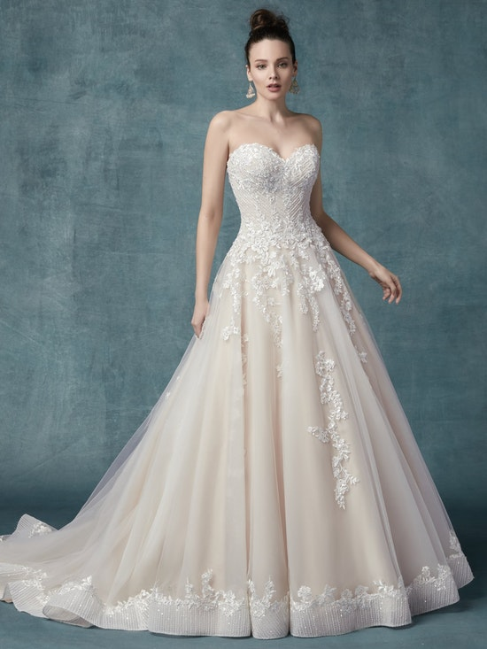 Zinaida (9MC024) Floral Lace Wedding Dressy by Maggie Sottero