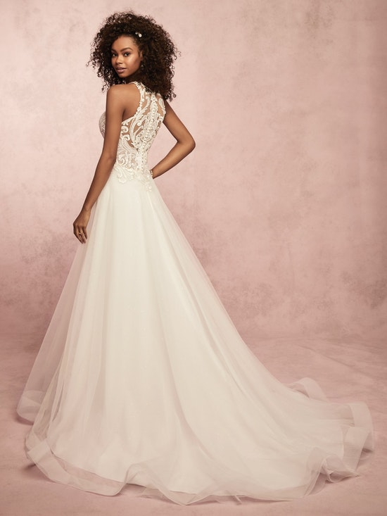 Ardelle (9RS064) Illusion Lace and Tulle Boho Wedding Dress by Rebecca Ingram
