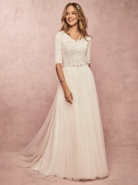 Connie Leigh (9RW001) Modest Boho Wedding Dress by Rebecca Ingram